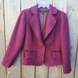 ZARA WOMAN Wool Blend Tweed Jacket - 12